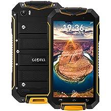 "Geotel A1 - 3G Smartphone Libre (Android 7.0, 4.5"" FHD Pantalla, Resolución 960*540, MTK6580M Quad-core 1.3GHz, 1Gb Ram 8GB ROM, Dual Sim, Cámara Dual 8MP + 2MP, 3400mAh Batería, IP67) (Naranja)"
