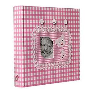 Album Photo Naissance à pochettes Lace Rose pour 200 photos 10x15 cm