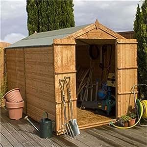 10ft x 6ft fensterlos Zunge und Groove Apex Holz Garten Schuppen mit Flügeltüren (10massiv OSB Boden)