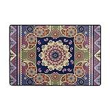 ingbags ethnischen indischen Paisley und Blumen Mandala Wohnzimmer Essbereich Teppiche 3x 2Füße Bed Room Teppiche Büro Teppiche Moderner Boden Teppich Teppiche Home Decor, multi, 3 x 2 Feet