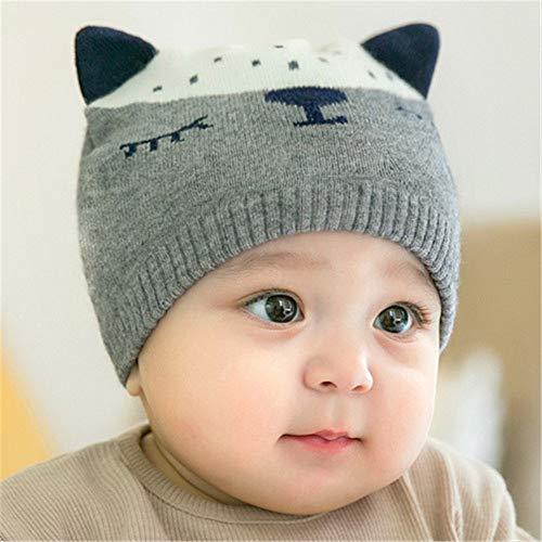 mlpnko New Baby Baumwolle Hut Hüte für Jungen und Mädchen Baby Wollmütze grau Code (0-12 Monate)