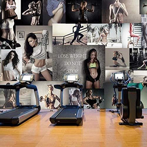 3d fototapete yoga gym hintergrund wandbild sport fitness studio spielplatz benutzerdefinierte wandbilder 250x175cm - 250 Fitness-studio