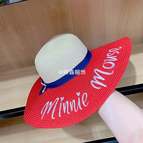 sdssup Großer Hut des roten Libellenbuchstaben des Frühlinges und des Sommers mit dem gleichen Paragraphenstrohhutrotcode Winton-fan