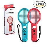Leegoal Tennisschläger für Joy Con, 2Pack Tennisschläger mit Griff Riemen für Nintendo Switch Controller Zubehör für Mario Game Tennis ASSE