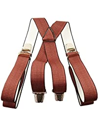 Bretelles à pinces vichy rouge