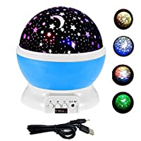 Ultra ® Blue Pink or Purple Coloured Star Sky Nightlight Projector Constellation Ceiling Lamp Night Light for Childrens Bedrooms Babies Nursery Star Night Light Battery or USB Powered with 360 Degree Rotating Soothing Baby Childrens Star Moon Light from