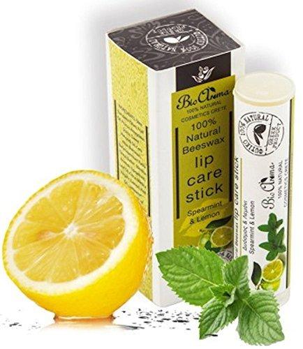 100% natural lipstick with lemon and spearmint 5ml / Lippenbalsam-Stift Zitrone-Minze 5ml -