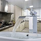 Auralum® Design Robinet mitigeur salles de bain bassin lavabo Chrome Size A