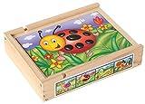 BARTL lustiges Magnetpuzzle Set mit Kleintieren, wie Bienen, Marienkäfer und Raupen. In einer stabilen Holzbox mit magnetischen Deckel, ab 3 Jahren perfekt als erstes Puzzle