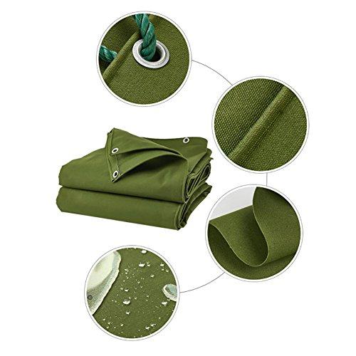 XUEYAN Doppelseitige Wasserdichte Tarp-große verdicken Hochleistungsplane-Konservierungsmittel-regendichte Zelt-Splitter-Markise Sun Shade-Boden-Blatt-Abdeckungs-Schuppen-Tuch - Grün, 600 G/M²