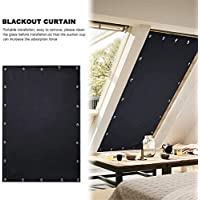 Blackout Blind Curtain Portable Blackout Blinds for Windows Adjustable Blackout Curtain Free Size Light Blocking Blinds Shade with Suction Cups for Baby's Nursery Bedroom Car Sunshade Travel
