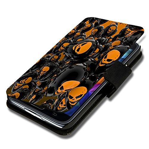 Book Style Flip Handy Tasche Case Schutz Hülle Schale Motiv Etui für Wiko Darkmoon - Flip 1X5 Design3