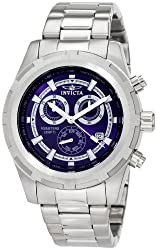 Invicta Watches, Mens Specialty Chronograph Blue Dial Stainless Steel, Model 1560
