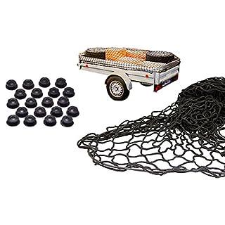 Anhängernetz mit befestigung Rundknöpfen 20St von all-around24® (125 x 210cm bis 200 x 300 cm)