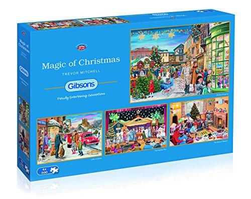 Gibsons Puzzle de la Magia de la Navidad, 4 x 500 Piezas