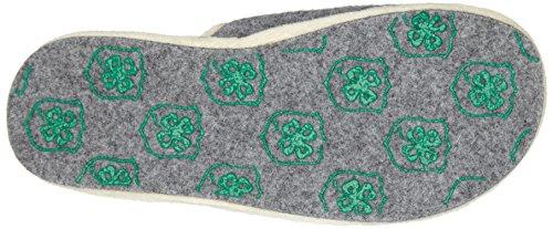 Adelheid - Glückspilz M. Spruch Filzpantoffel, Pantofole A Casa da donna grigio (mausgrau / 940)
