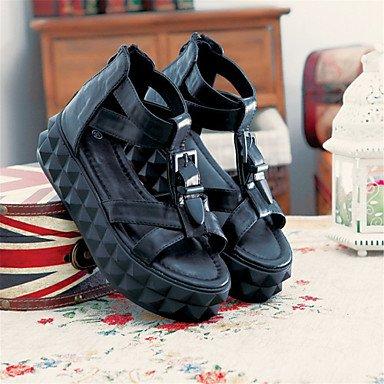 LvYuan Da donna-Sandali-Formale Casual Serata e festa-Comoda Innovativo-Piatto-Finta pelle Materiali personalizzati-Nero Verde Rosso Bianco Beige Black