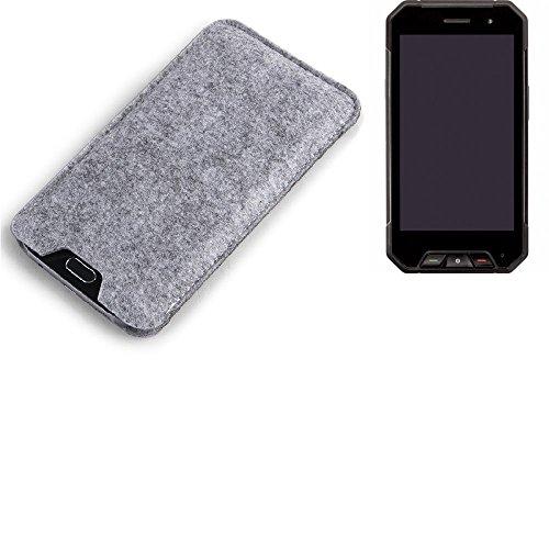 K-S-Trade Filz Schutz Hülle für Cyrus CS 27 Schutzhülle Filztasche Filz Tasche Case Sleeve Handyhülle Filzhülle grau