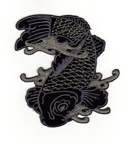 Applicazione con ferro da stiro, disegno pesce giappone carpa tattoo