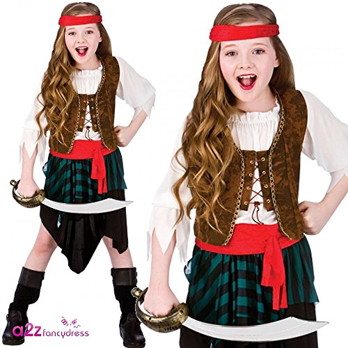 Imagen 1 de Caribbean Pirate Girls Fancy Dress Halloween Costume M (disfraz)