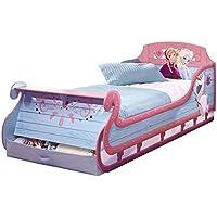 Frozen 525FON Die Eiskönigin Schlitten Einzelbett mit Schubladen von Worlds Apart, holz, 90 x 190 cm, lila preisvergleich bei kinderzimmerdekopreise.eu