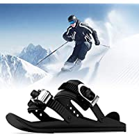 Short Ski Shoes for Men Women, Mini Skis Skates for Snow, Lightweight Skating Snowshoes Small Ski Sled with Adjustable Straps for Hiking Skiing Outdoor Sports