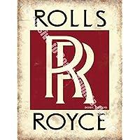 Rolls Royce RR insegne. Derby Inghilterra Sevice, vendite, logo. Rosso,