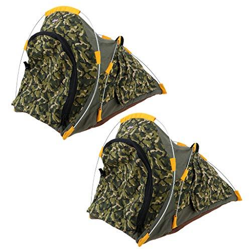 FLAMEER 2 Stücke Miniatur Outdoor Camping Wandern Zelt Zubehör Für 12 Zoll SoldatenAction Figure Spielzeug