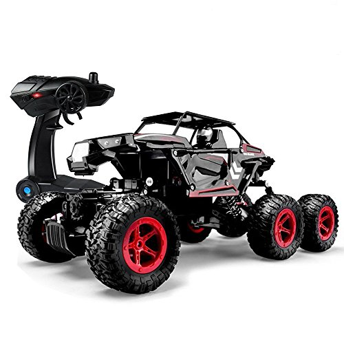 SZJJX 6WD RC Car Remote Control Off-Road High Speed 1/14 Scale Climbing Truck 2.4Ghz Electric Radio Controlled Rock Climber All-Terrain RTR Buggy (black)