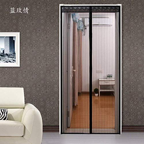 Türen mit magneten bildschirm,Türen für häuser bildschirm Velcro magnetische tür siebgewebe Der moskito Tür vorhang Magnetisch Hohe denisity Abgeschnitten Schlafzimmer Bildschirm-G 90x230cm(35x91inch)