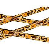 Cinta de Señalización Zombi - 6 m | Cinta para Acordonar Muerto Viviente | Cinta de Advertencia Halloween | Cordón Policial Fiesta de Terror