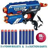 SKEDIZ DILLARD'S Blaze Storm Soft Bullet Gun Shooting Gun Toys with 5 Foam Bullets & 5 Suction Dart Bullets (Blaze Storm…