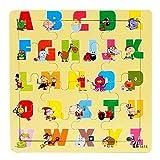 Routefuture Jouet éducatif pour Enfants Pas Cher, 16 pièces Puzzles avec Cadre Animal Puzzles en Bois, Cadeau d'anniversaire Educatif pour Fille et Garçon de 1 2 3 Ans et Plus