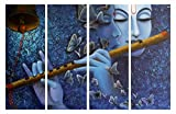 #1: Krishna painting    PPD Sparkling Radha-Krishna Wall Painting - 4 Frames (61cm x 91.5 cm)- Wall Decor    Wall Decals    Wall Hangings    Home Decor    Gift Items    Beautiful and serene surroundings that bring style to your surroundings.