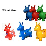GN Enterprises Kids Boys Girls Non-Musical Space Bouncing Animal Hopper Inflatable Soft Rubber Toy Bounce Game Gift