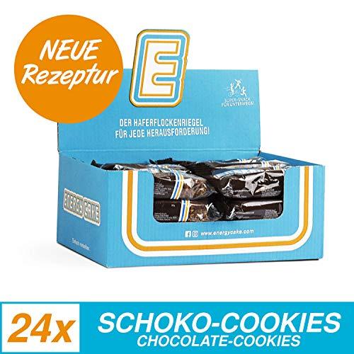 Energy Cake - Haferflockenriegel mit saftig weicher Form, überzogen mit zart schmelzender Schokolade, aus über 50% Haferflocken für mehr Energie und weniger Hunger - Schoko-Cookie 24x 125g (3kg)