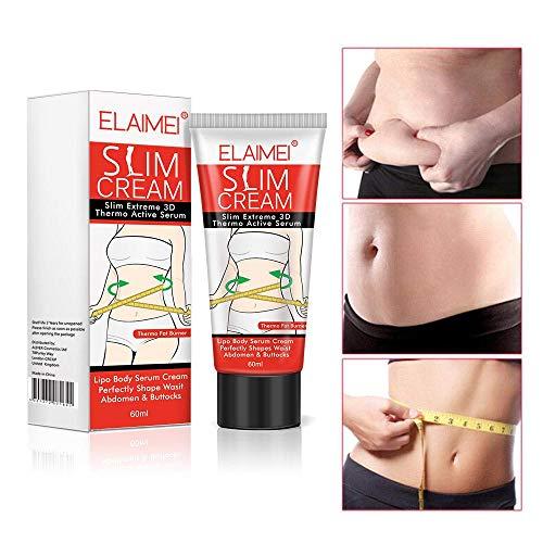 Anti-Cellulite-Creme, KOBWA Slimming Cream, Body Serum, Slim Creme Fettverbrennung Creme Ziele Cellulite auf Oberschenkel, Bauch, Gesäß,...