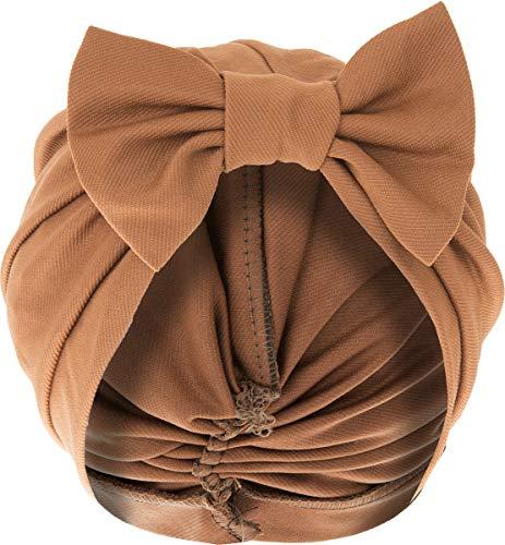 Unbekannt Retro Damen Kopfbedeckung Vintage Schleife 40s Pin Up Turban Schwarz One ()