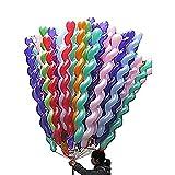 Trifycore 50Pcs spirale del lattice Balloons 50 pollici colorato torta unica Festival di palloncini in lattice per il compleanno nozze gioielli forniture da parte