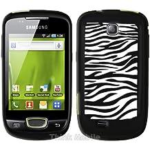Negro Silicona Cebra Funda Case Para Samsung Galaxy Mini S5570