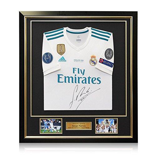 Camiseta fútbol firmada y enmarcada - Real Madrid - Sergio Ramos - Fi