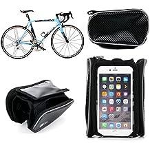 DURAGADGET Alforja De Bicicleta Para Apple Iphone 7 | 7 plus | 6 | 6 Plus | 5 | 5c | 5s | 4s | 4 - Con Ventanilla Transparente - Garantía 2 Años