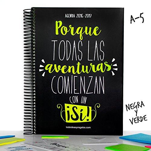 todoideas Agenda 2017A5Black and Green