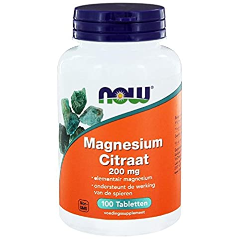Now Foods, Magnesiumcitrat 200 mg, 100 Tabletten