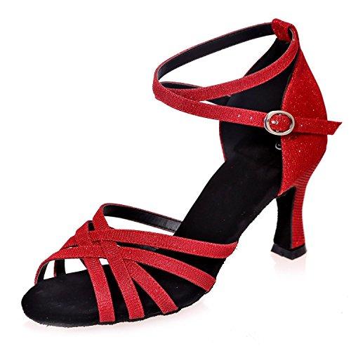 L@YC I Sandali Da Ballo Di Latino Delle Donne Dei Sandali aperti Più Colori Possono Essere Personalizzati / Multi-Colore Red