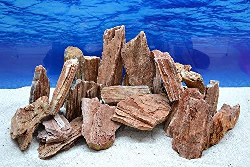 Pro Stein (Pro Stein Aquarium Deko Versteinertes Holz rot braun Natursteine 0,8-1,5 Kg Felsen Nr.51 Pagode Dekoration Aquascaping)