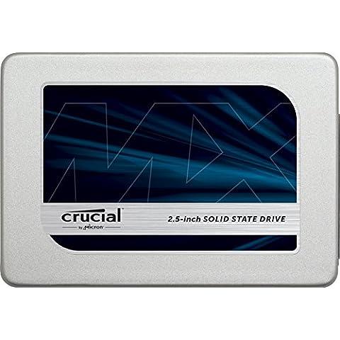 Crucial MX300 - Unidad de disco duro sólido de 2 TB SATA, 2.5 pulgadas, color gris