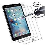 Didisky Pellicola Protettiva in Vetro Temperato per iPad 2/3/4 [Tocco Morbido ] Facile da Pulire, Facile da installare, Trasparente [ 3 Pezzi ]