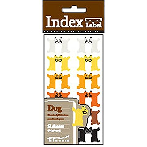 Midori Index Label Dog–24étiquettes adhésives Cathedral–Traveler's ordinateur portable