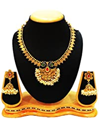 SatyamJewelleryNx Peacock Design Neck Fit Set For Women Fashion Jewellery (Wedding Season)